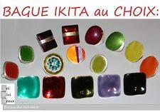Bague IKITA en metal et EMAIL Réglable MODEL &  COULEUR au CHOIX