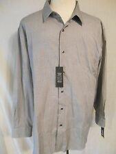 Apt. 9 100% Cotton Black Tie Geometric Long Slv Point Modern Fit Shirt SR$44 NEW