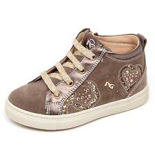 E2096 sneaker bimba taupe NERO GIARDINI JUNIOR scarpe shoe kid baby
