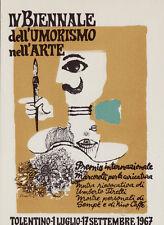 #TOLENTINO:  IV BIENNALE INTERNAZ. DELL'UMORISMO- 1967 dis. CHIAPPELLI
