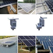Solar Panel Mounting Bracket End Mid Clamp Kit Adjustable For 19mm--55mm Framed