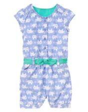 NWT Gymboree Elephant Print Romper 6 12 18mo 2T Safari Smiles Toddler
