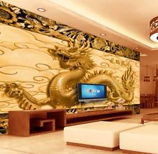 3D drago animale Parete Murale Foto Carta da parati immagine sfondo muro stampa