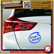 sticker autocollant 155db+ tuning sono sponsor décibel