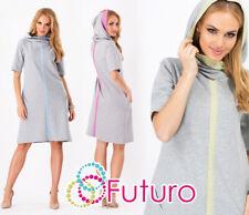 HQ  Exclusive Women's Coat  Italian Style Cape Pockets Hood Size 10-12 FA333