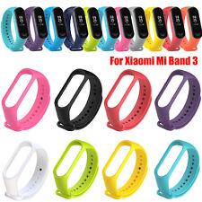 For Xiaomi Mi Band 3 Adjustable Soft Bracelet Strap Wristband Silicone Bangle aa