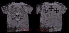 Affliction BARS T-Shirt L Large NWT NEW Skull Grey