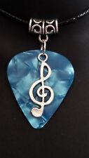 Guitar Pick Plectrum Music Treble Cleff Necklace Pendant Rock Star Jewellery