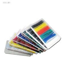100 tlg. SET Schrumpfschlauch Sortiment / schwarz, weiß, transparent, blau, gelb
