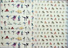 2 x A4 Fogli Ghiaccio Dance / Pattinaggio o di Equitazione/Equitazione Pergamena