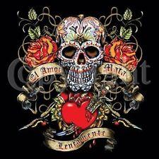Skull El Amor Mata Love Kills Tattoo LONG SLEEVE T SHIRT