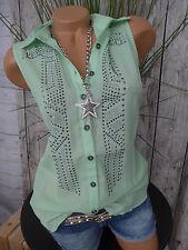 Heine B.C chemisier Shirt Tunique Taille 34-46 crème avec paillettes NEUF 050