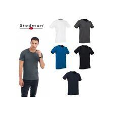 T-SHIRT STEDMAN CLIVE ELASTICIZZATA ST9600 UOMO COTONE MANICA CORTA
