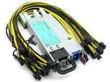 HP Platinum 94% 1200 Watt GPU Mining Power Supply Chain Sync Rig PSU 110-240V