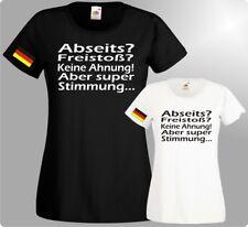 Fußball WM Damen T-Shirts Deutschland Fanmeile Fun Spruch Publicviewing