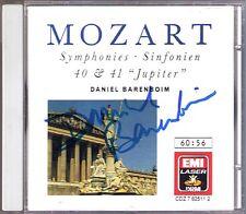 Daniel Barenboim firmato Mozart Symphony No. 40 41 Jupiter EMI CD 1988 sinfonie