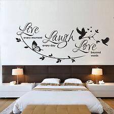 LIVE LAUGH LOVE - WALL ART STICKER - CONTEMPORARY INSPIRATIONAL VINYL TRANSFER