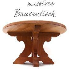 bezaubernder Tisch Shabby Chic Massivholz Couchtisch rund und schwer Bauerntisch
