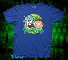 New Men's Cartoon Network Rick and Morty Portal Blue Mens T-Shirt