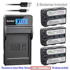 Kastar Battery LCD Charger for Sony NP-FM50 & Sony Cyber-shot DSC-F707 DSC-F717