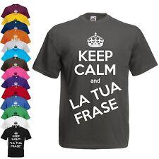 T Shirt Keep Calm Personalizzata Maglietta personalizzabile