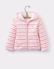 Joules Baby Girls Cosette Pink Multi Striped Zip Reversible Sweatshirt Jacket