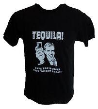 "'""Tequila! Toilet ""Funny Slogan T-Shirt-Present Mens cotton joke alcohol student"