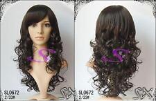 Perücken (Kanikalon)  dunkel braun  wig Haar