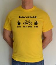 TODAYS SCHEDULE BIKE,CYCLING, FUN T-SHIRT ,GIFT