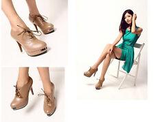francesine stivali stivaletti donna tacco 11 cm colore albicocca