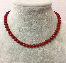 Collana in Perle Naturale da Donna, Rosso ,Perla ,Conchiglia, 6,8,10mm