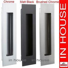 Flush pull,Flush handle for sliding door-Satin,Polished,Matt Black.160x45mm