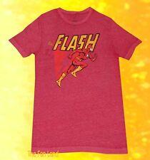 New DC Comics Men's Flash Cartoon Classic Vintage T-Shirt