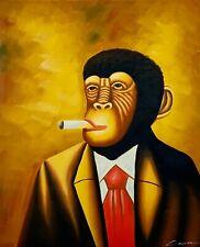 Smoker Monkey Oil Painting