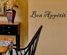 Wall Decal Art Vinyl Quote Sticker Large Letter Bon Appetit French Kitchen KI41