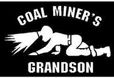 WHITE Vinyl Decal - Coal Miner grandson crawling light mine fun sticker