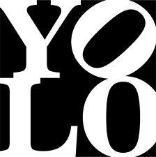 YOLO - you only live once du lebst nur einmal Wandtattoo Türaufkleber Aufkleber