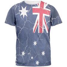 Distressed Australian Flag Mens T Shirt