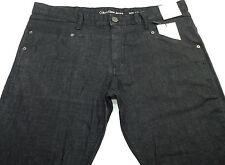Calvin Klein Men's Slim-Fit Straight-Leg Jeans Black
