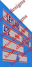 Leyland Synchro tractor bonnet stickers / decals set