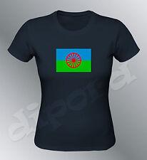 Tee shirt drapeau Manouche femme gitane rom gipsy gens du voyage flag tzigane