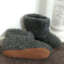 Carbón puro Botas De Lana De Oveja Zapatillas suela de gamuza de piel de cordero Mujer Damas Para Hombre