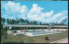 Jacksonville Fl Malabar Motel Vtg Pool View Postcard