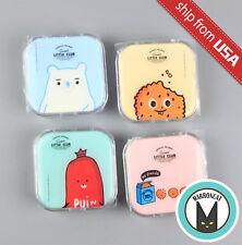 Dessert Coockie Bear Cartoon Contact Lens Travel Case Box Mirror Container Kit