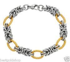 Bold Round Byzantine Bracelet Stainless Steel by Design QVC J276310 FREE SHIP