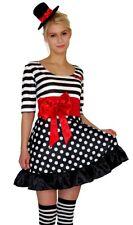 Kostüm Clown Pantomime Harlekin Kleid B-Ware Faschingskostüm Gr. S M L