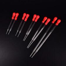 1~5X Glass Pipette Pipet Medicine Laboratory Dropper Red Rubber Head Lab Supply