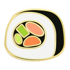 "PinMart's Sushi Roll Side View Enamel Lapel Pin 3/4""W x 5/8""H"