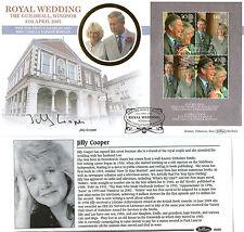2005 ROYAL WEDDING M/SHEET SIGNED JILLY COOPER BENHAM FIRST DAY COVER SHS