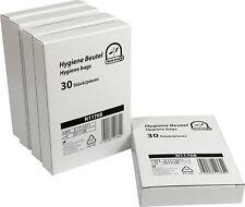 Hygienebeutel für Damenbinden Hygienetüten für Tampons weiß